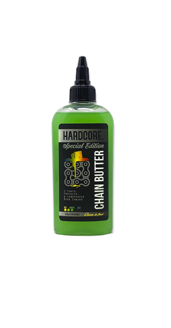 Hardcore Chain Butter 4 oz- Holiday Edition chain, butter, bike, bicycle, lube, hardcore, lubrication, cleaner, oil, quite, rust, squeak