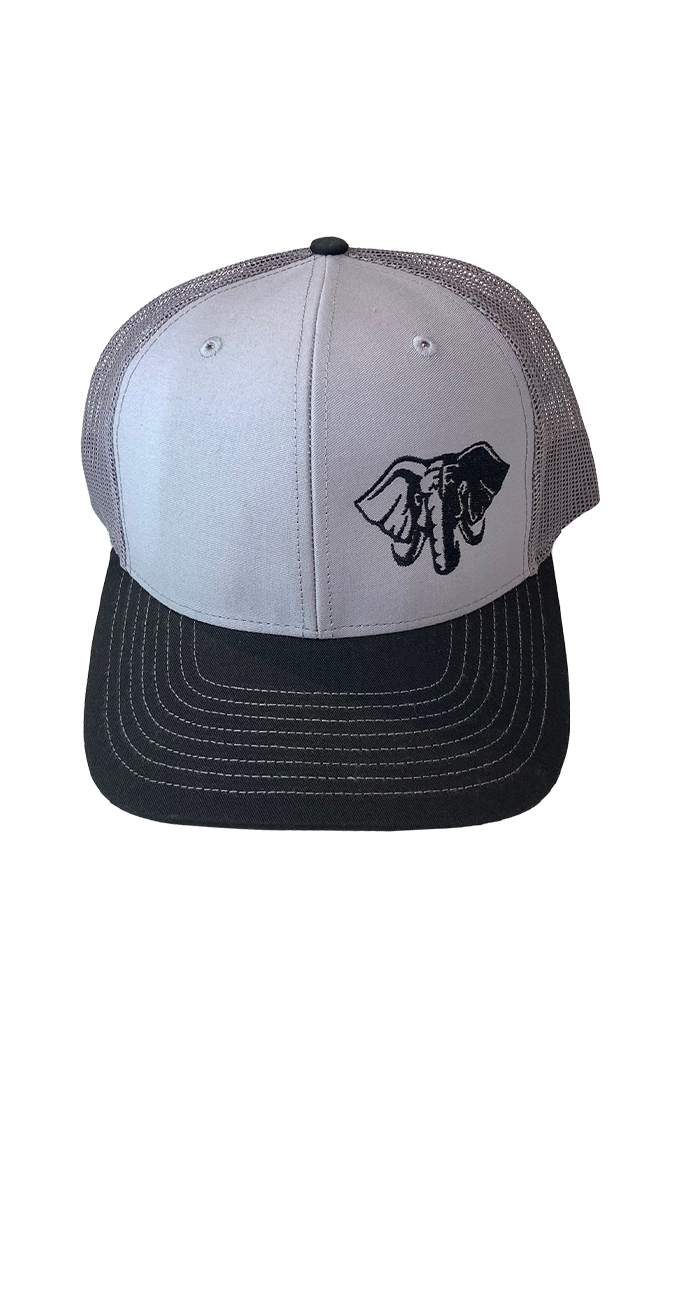 Hardcore Trucker Hat, Gray & Black